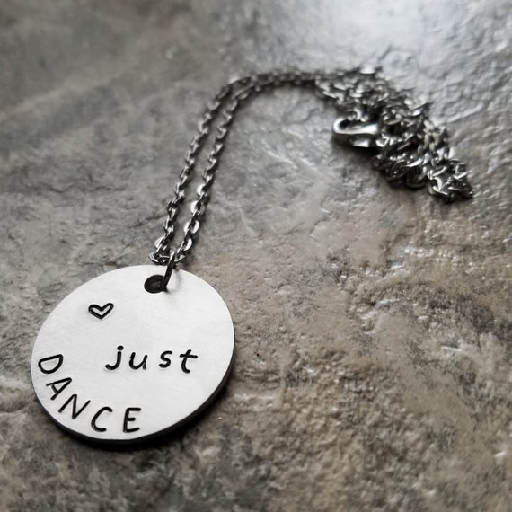 Just Dance Necklace, Fitness Dancing Jewelry, Aerobic Cardio for a Ballerina Ballet Dancer, with Heart Dance Keychain Keyring Key chain