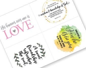Printable Encouragement Card, Watercolor Bible Verse Encouragement Card, Scripture Verse Memory, Inspirational Card, Christian Printable