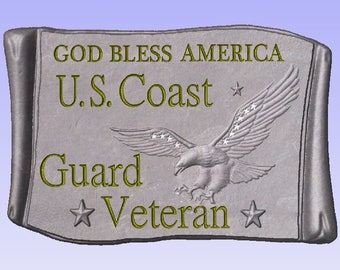 Concrete mold to make Coast Guard Military Plaque