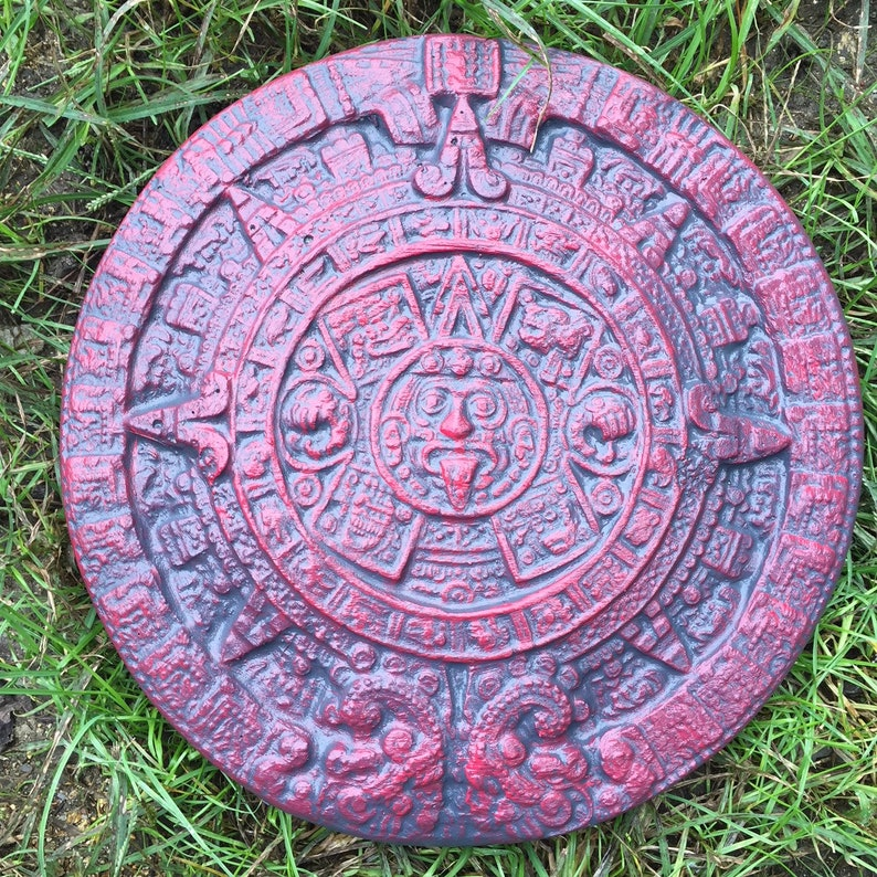Aztec Calendar Stepping Stone Mold Concrete Cement Garden Path Decorations Used To Make Your Own Stepping Stones