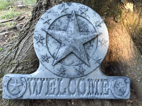Concrete Mold Texas Star Welcome Stone For The Lone Star