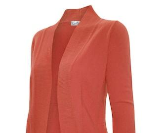 Soft Sexy Drape Knit Shawl Cardigan Sweater, Open Front - SW565