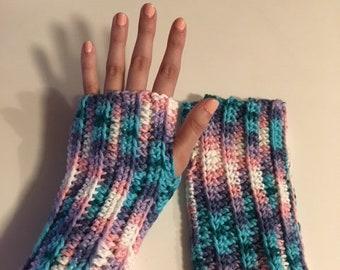 Cozy Pastel Arm Warmers
