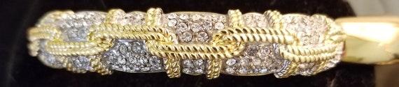 Swarovski gold-plated cuff bracelet