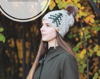 Fall evergreen tree wool hat