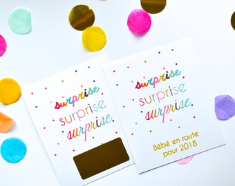 Scratch surprise pregnancy announcement card