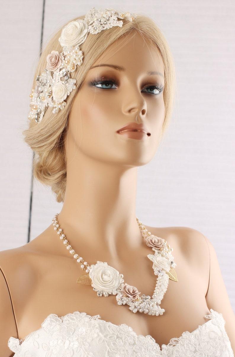 Parrucchino di pizzo accessori capelli sposa matrimonio  fee6f04f7a44