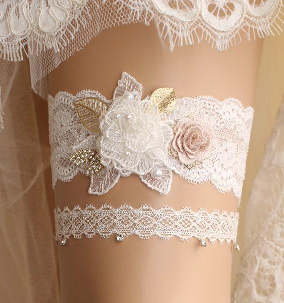 Bridal Garter TossKeepsake Garter Ivory Garter Set GreyYellow Ivory Bridal Garter Set Bridal Garter Set Wedding Garter Set