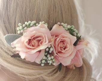 wedding hair accessories, flower hairpiece, Bridal hair accessories, wedding headpiece, flower hair comb, wedding hair comb