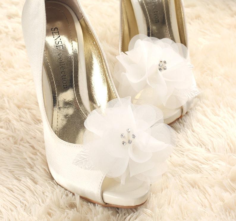 db6fbbe78 Wedding shoe clip bridal shoe clip white shoe clips bridal