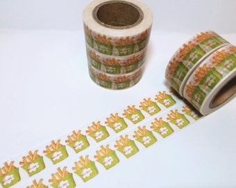 Silver Foiled Washi Tape Little Potato Emoticon Washi Tape