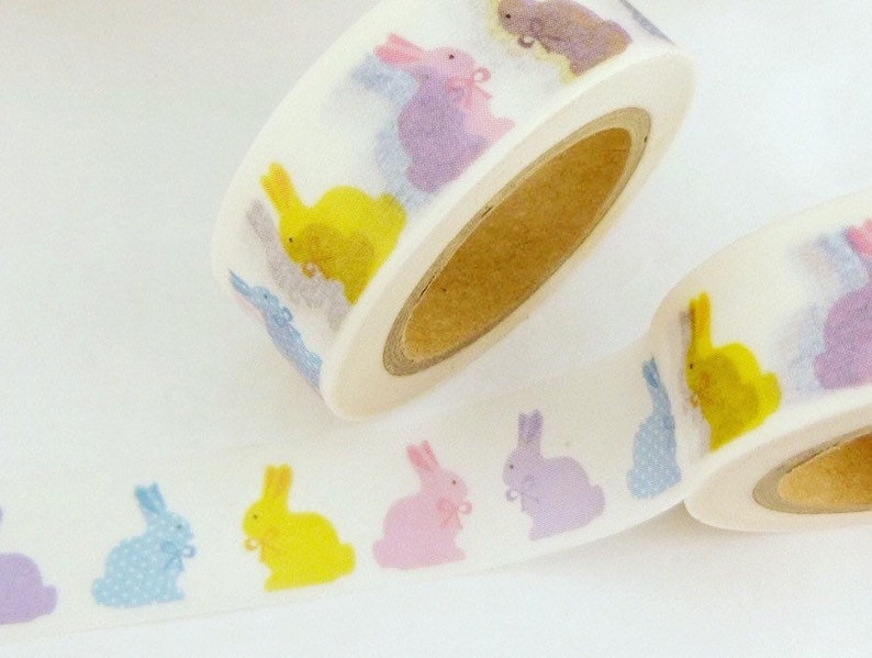Washi Tape Peeps Easter Bunnies Sample Lengths
