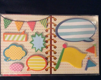 Talk Bubbles and Flag Sticky Memo Set