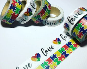 Autism Awareness, Puzzles, Love, Washi Tape, Sample Lengths, Park Lane