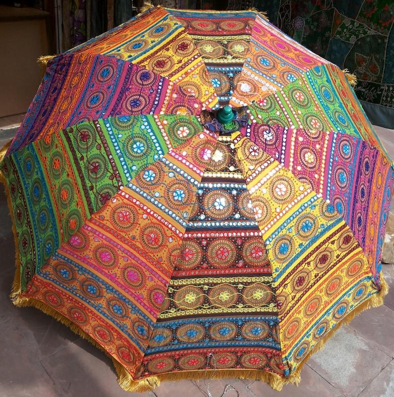 garden umbrella big size  beach umbrella with colourful image 0