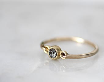 Gold dainty ring, minimalist ring, stackable ring, simple ring, gold cz ring, boho rings gold, minimalist jewelry, gold filled ring