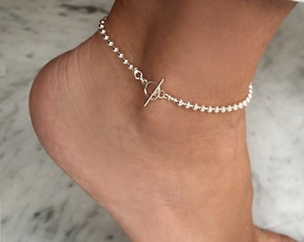 925 silver anklet, ankle bracelet silver, beach anklet, minimalist anklet, anklet bracelet, beach jewelry, summer jewelry, ankle jewelry