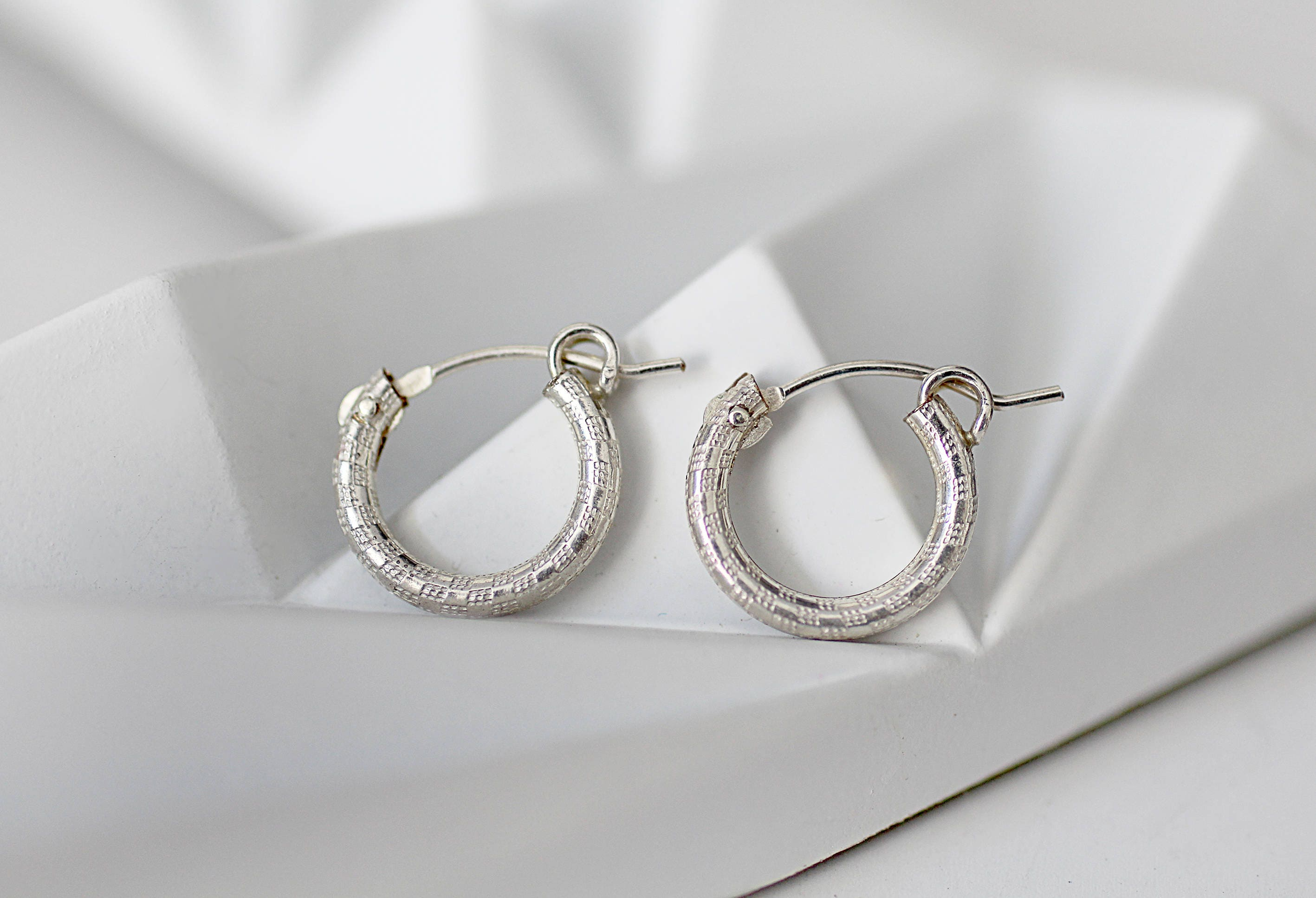 small silver hoop earrings tiny silver hoops small hoop etsy. Black Bedroom Furniture Sets. Home Design Ideas