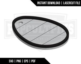 Rustic Shiplap Easter Basket Tag SVG File - Multilayer Glowforge Digital Download