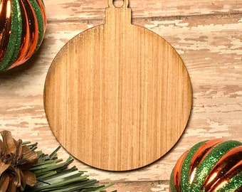 Basic Christmas Ornament - Digital Download - Laser Cut File