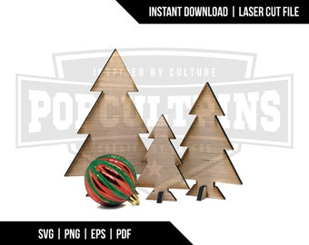 Desktop Christmas Trees - Digital Download - Laser Cut File - Glowforge File