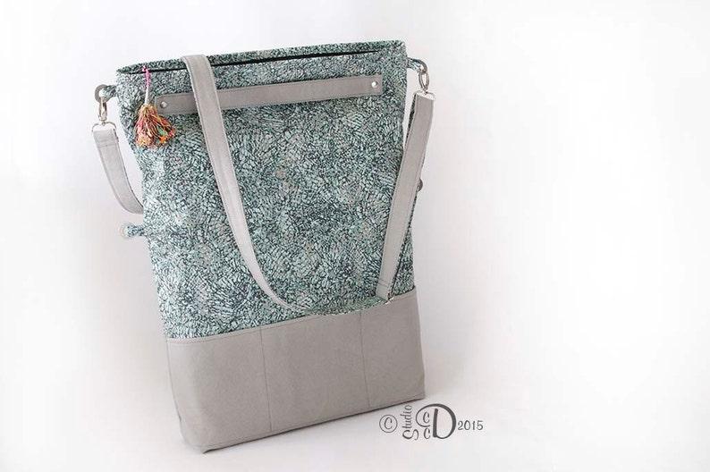 Fold over Messenger Bag Cross body bag Convertible Tote Bag Travel Bag Messenger Bag