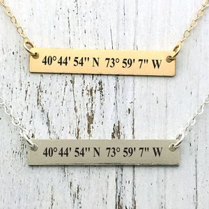 Custom Coordinates bracelet GPS Coordinates Jewelry sister Braceletsold individuallyAdd text on the back must selected front/&back