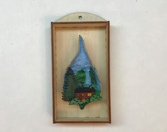 Little House with Large Trees scene