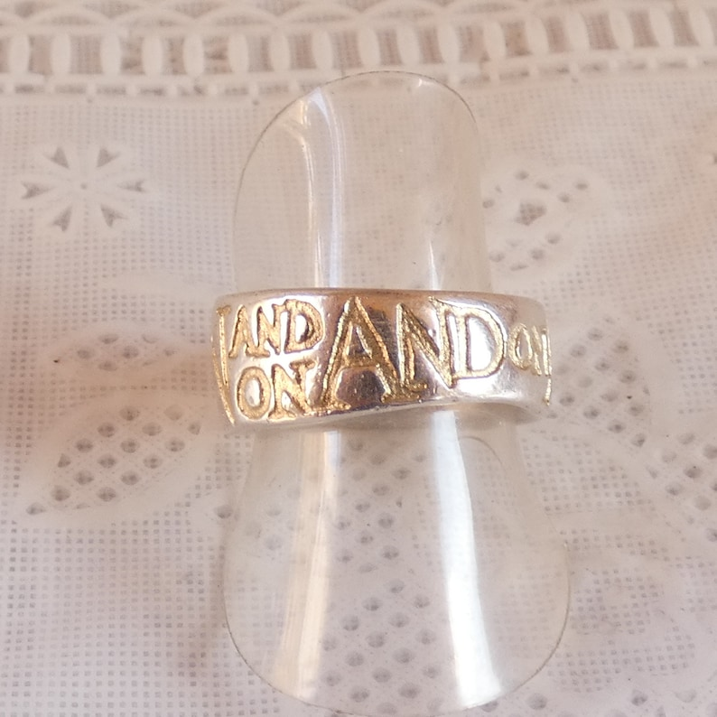 6b215f3b3ecd0 Sterling Silver and Gold On and On Diana Porter Ring