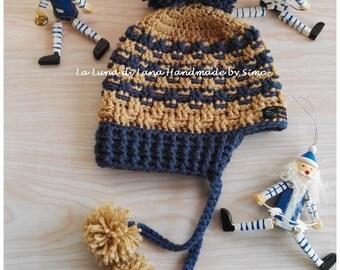 cappello di lana con paraorecchie per bimbo c1920ab3a451