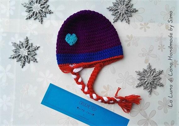 più colori outlet in vendita negozio ufficiale Cappello lana, cappello uncinetto, cappellino bambina, cappellini a  uncinetto, berretto lana, paraorecchie, cappello anna elsa, regalo bimba