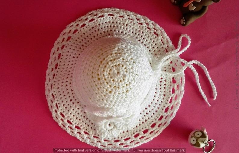 Cappello in cotone estivo cappellino cerimonia bimba  3b4c2f1e4956