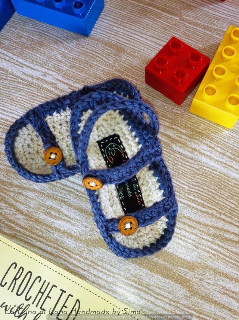5cc833352d755e Sandaletti uncinetto Sandali neonato di cotone corredino | Etsy