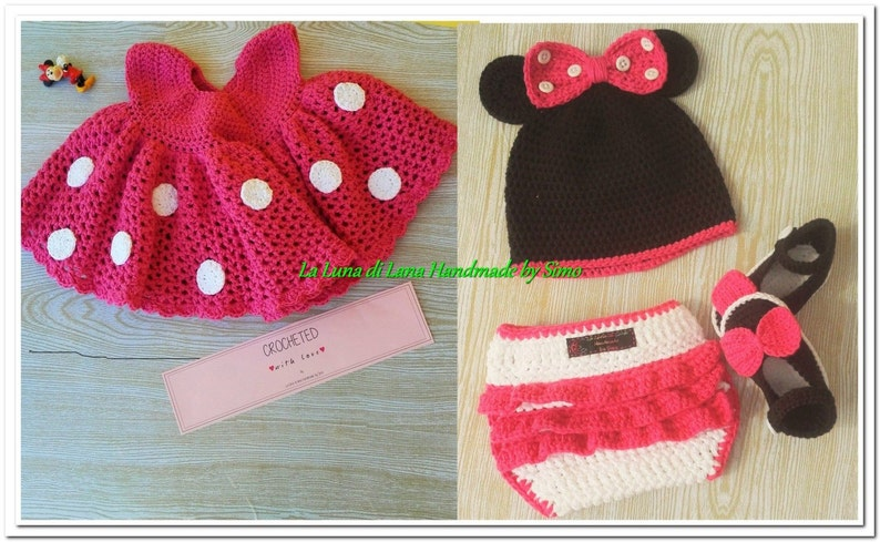 Vestito ispirato a Minnie per neonata completino neonata  bc46945f752d