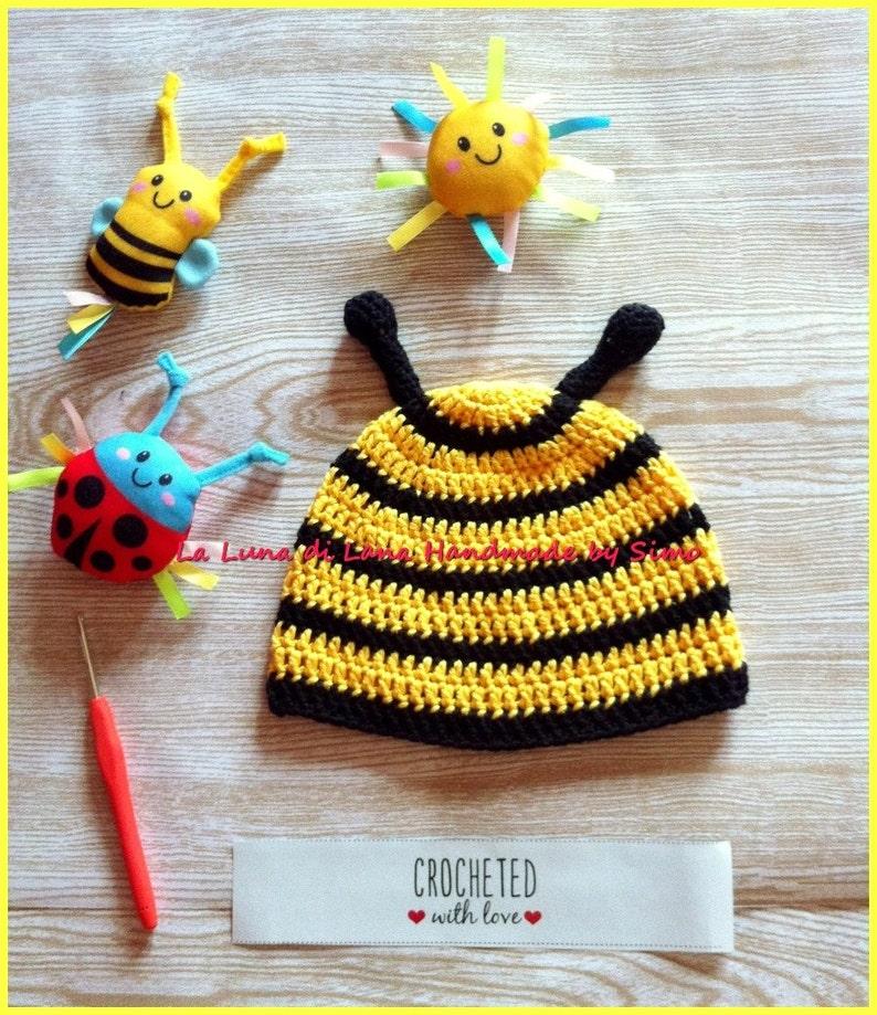 Cuffia per neonato in cotone cappello uncinetto per bimbo  f10c2b205687