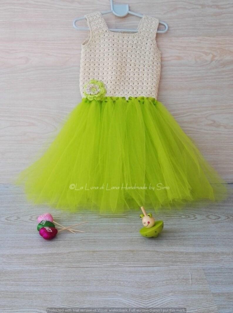 Vestito Per Bambina O Neonata Ad Uncinetto Con Tulle Abito Etsy