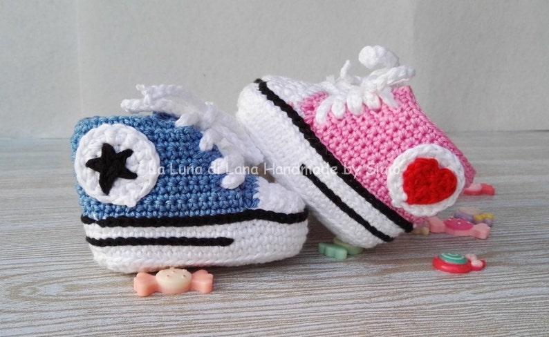Scarpine uncinetto neonato regalo neonati gemelli scarpette  4f983b2e595f