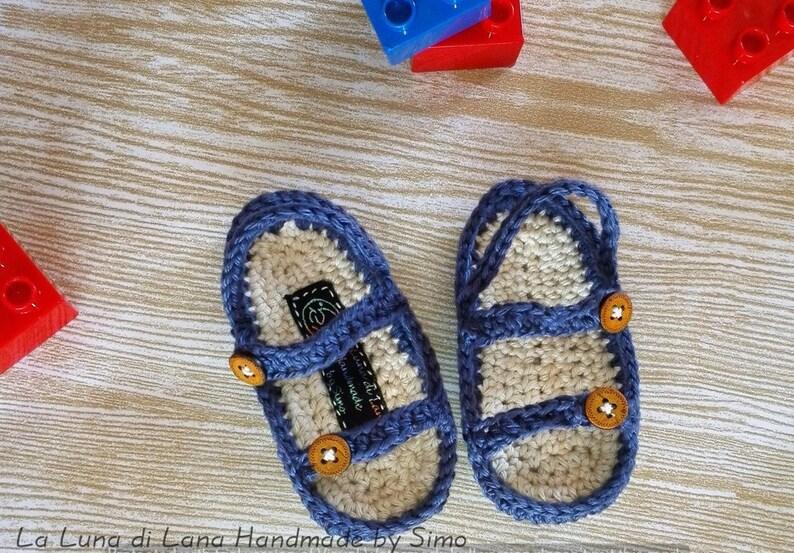 Sandaletti CorredinoEtsy Di Sandali Uncinetto Cotone Neonato 3Rq4A5jL