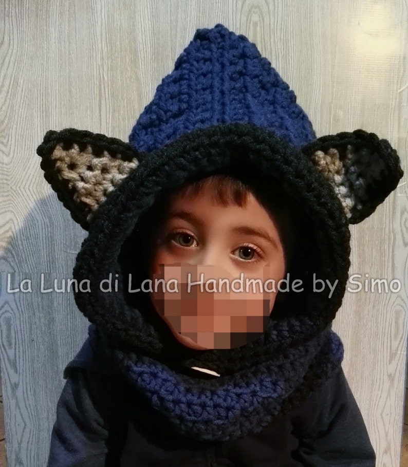 dd0b285228d Scarf for children hood knitted kids hood baby ears knitted