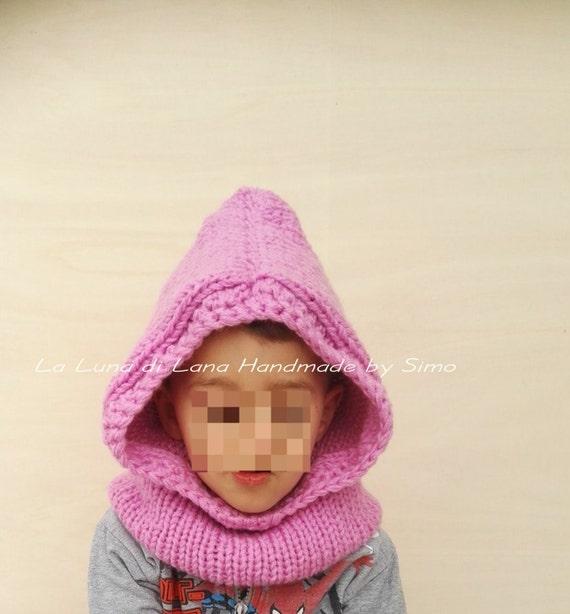 ineguagliabile nelle prestazioni varietà larghe cerca ufficiale Cappuccio sciarpa per bambini fatto a maglia, scaldacollo con cappuccio per  bimbe e ragazze, accessori inverno scuola o vacanze in montagna