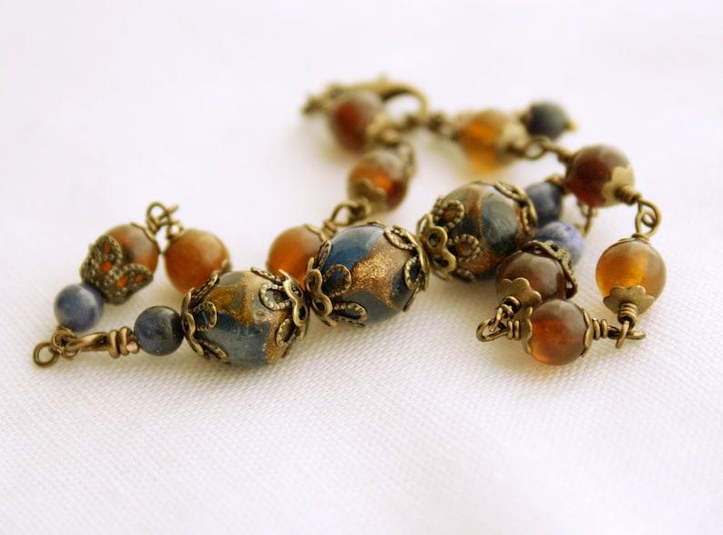 Beaded Bracelet Prayer Bead Genuine Raw Baltic Amber Rosary Bracelet Small Mini Rosary Handmade Rosary Brass One Decade Rosary