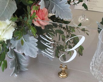 Table numbers, wedding table numbers, acrylic table numbers, lucite table numbers, wedding signs, acrylic wedding signs, acrylic, lucite