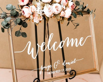 Wood Acrylic and Laser Cut Wedding Signs by PaperandPineCo
