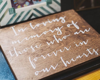 In loving wood sign   Etsy