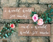 Mr and Mrs Signs, Mr and Mrs Chair Signs, Mr and Mrs, I would walk 500 miles sign, Wooden Wedding Signs, Mr Mrs signs, Mr Mrs chair -nc