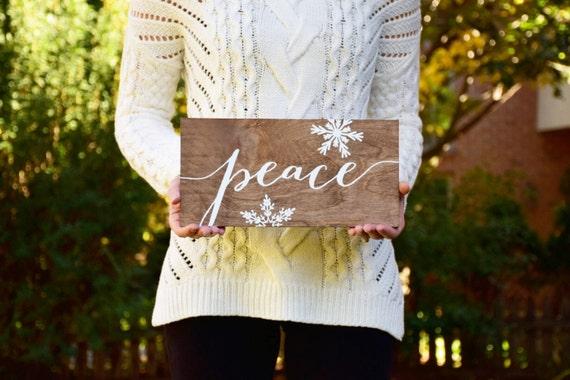 Peace Christmas Sign.Christmas Signs Peace Christmas Sign Wood Sign Wood