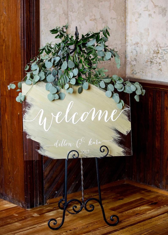 Wedding Welcome Sign  Wedding Signs  Acrylic Wedding Sign  image 0