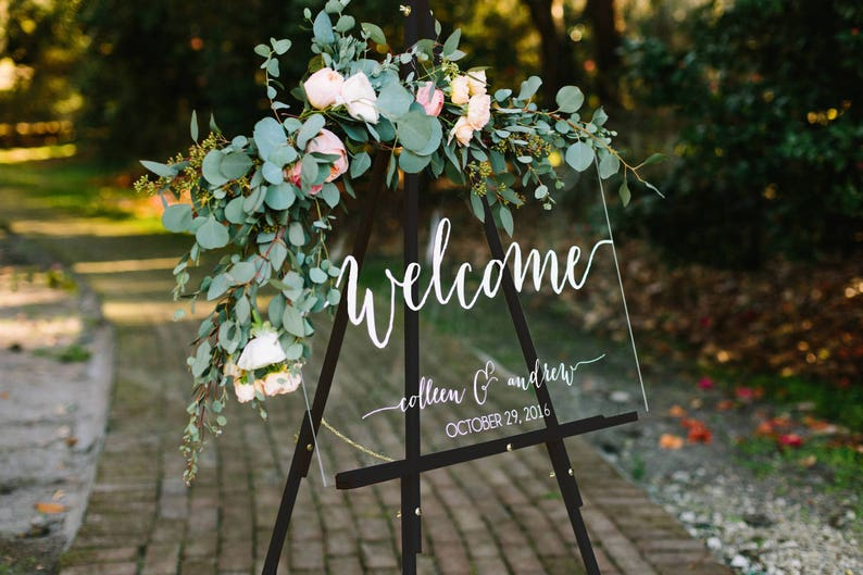 Wedding Welcome Sign.Wedding Welcome Sign Wedding Signs Acrylic Wedding Sign Lucite Wedding Sign Wedding Signs Acrylic Acrylic Wedding Signs C