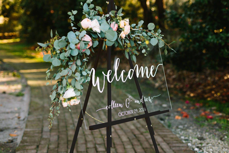 Wedding Welcome Sign - Wedding Signs - Acrylic Wedding Sign - Lucite  Wedding Sign - Wedding Signs - Acrylic - Acrylic Wedding Signs -c
