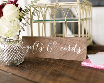 Gifts and Cards Sign - Wooden Wedding Signs - Wood -nc